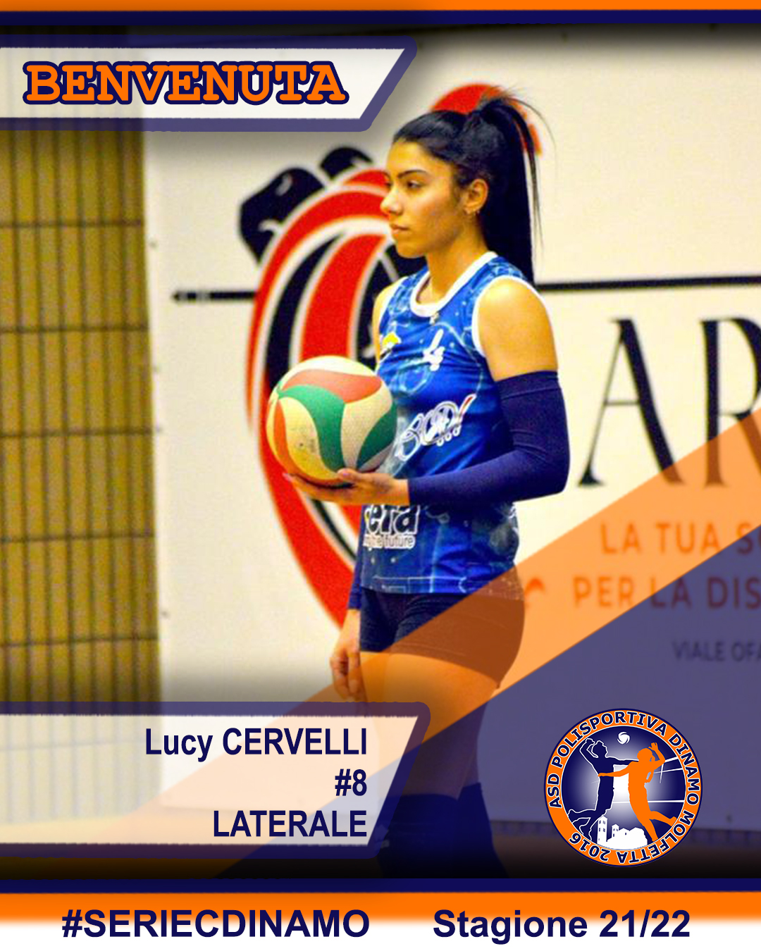 You are currently viewing Lucy Cervelli si unisce alla famiglia Dinamo